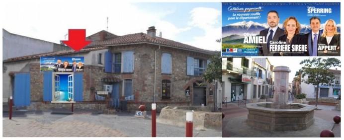 Permanence de la Droite Républicaine, au centre du village, à Cabestany, 2 rue Célestin Freinet.