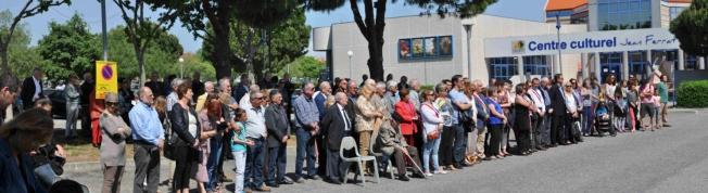 l'assistance à Cabestany en ce 8 mai