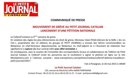 petit journal catalan