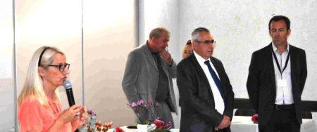 Colette Appert au micro, Philippe Gleizes, Jean Marc Pujol, Eric Poupet