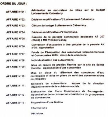 ordre jour conseil municipal 16 juin 2015 bis
